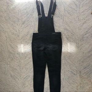 Black jean overalls